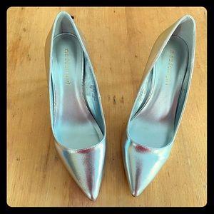 EUC Madden Girl silver shoes